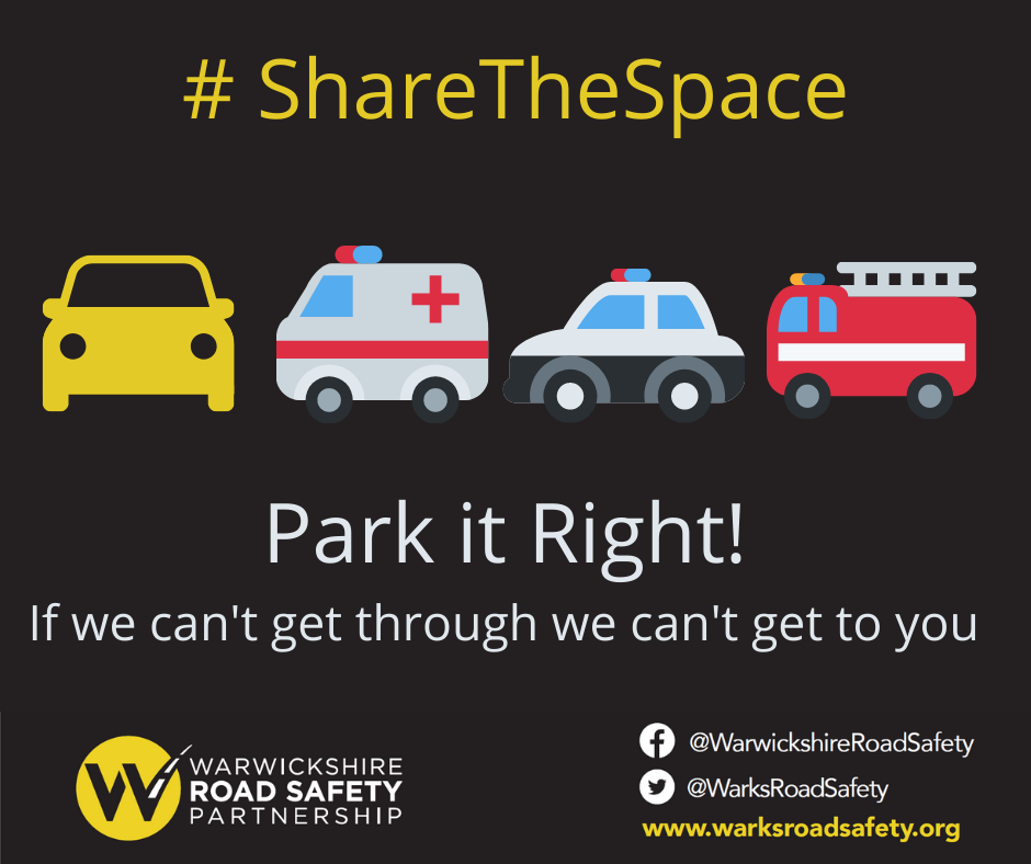 Residents are reminded that considerate parking can be the difference between life and death.